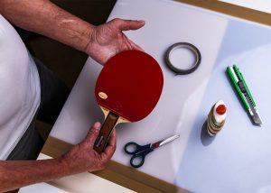 Choosing old table tennis paddle to save money